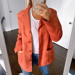 🍁 FAIR LADY FAUX SUEDE RUST FALL JACKET!